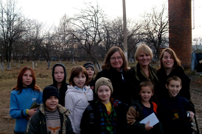 In Russia, with some of the precious kids I tried to help