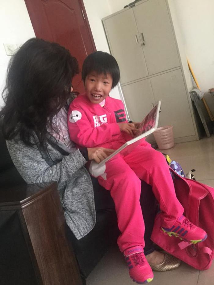 Zoe & Mommy reuniting in China